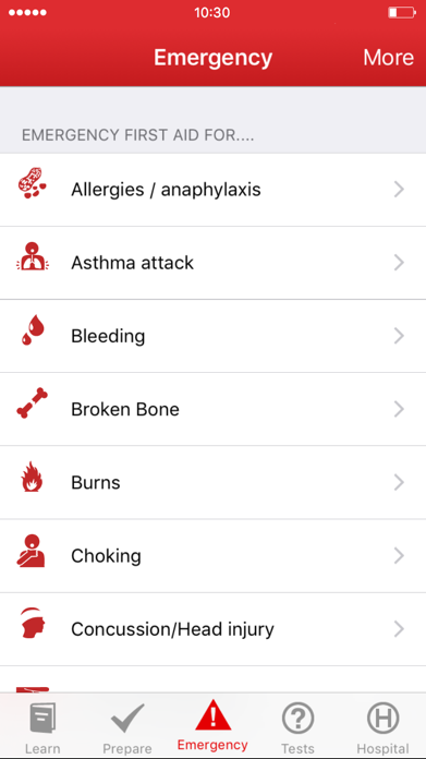 First Aid: American Red Cross Screenshot
