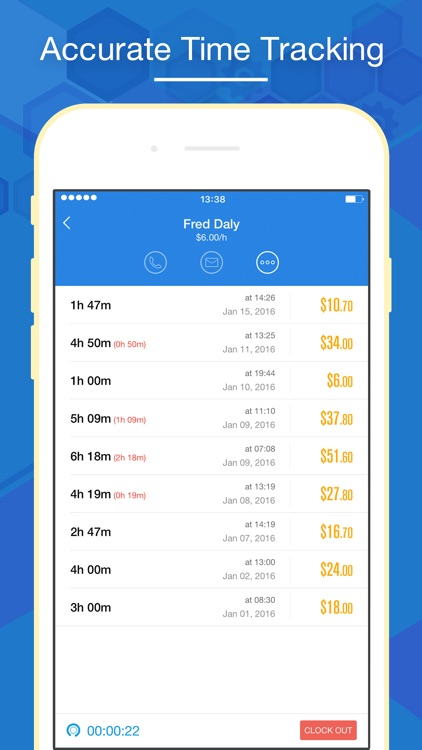 Hours Keeper Pro - Timesheet, Tracking & Billing screenshot-0