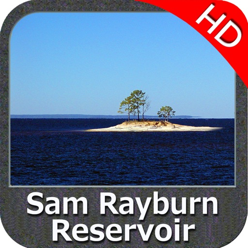 Sam Rayburn Reservoir HD GPS fishing chart offline