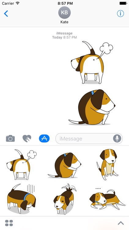Beagle sticker.Dog Stickers for iMessage