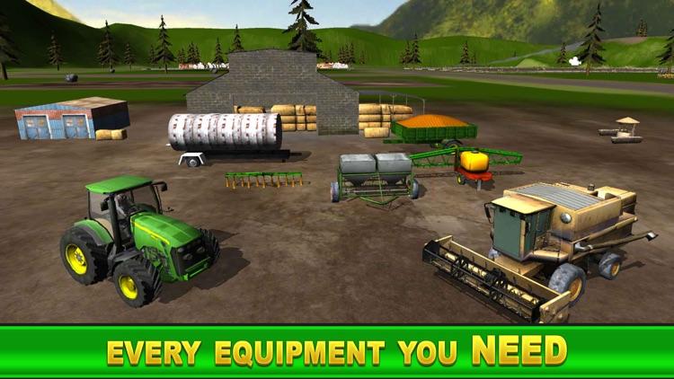 Farm Simulator Games: Diesel Tractor Harvest screenshot-4