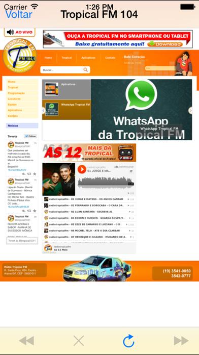 Rádio Tropical FM 104.1 - Araras/SP screenshot two