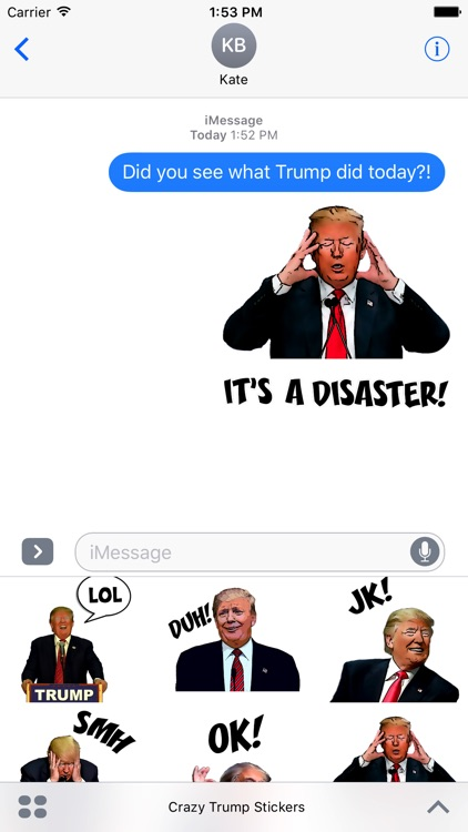 Crazy Trump Stickers