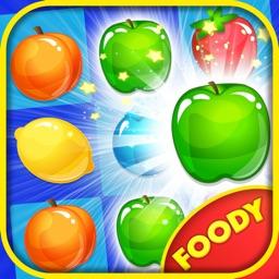 Foody Crush Mania - Fruits Land