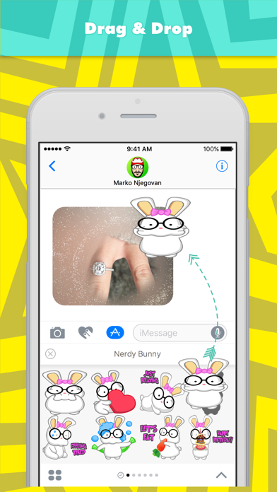 Nerdy Bunny stickers by CandyASS screenshot three