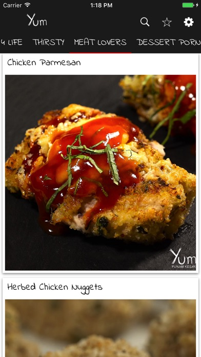 Screenshot for Yum Recipes in Australia App Store