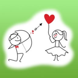 Love Journey Of Sweet Couple Stickers