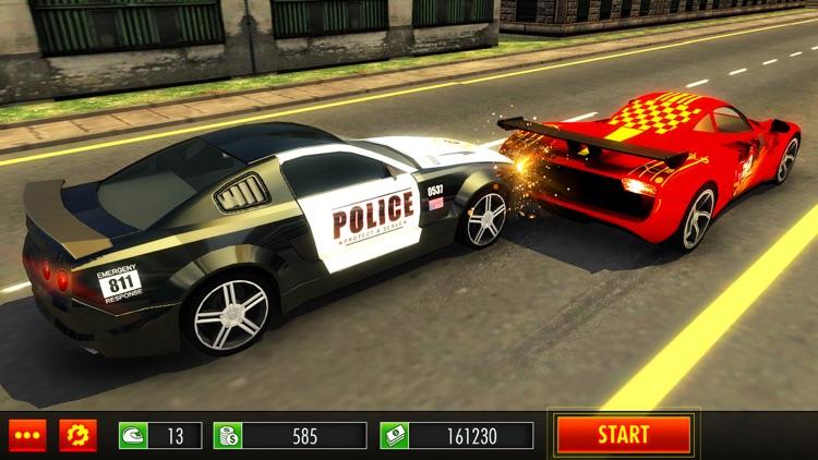 Police Car Chase Smash vs Criminal Gangster Escape