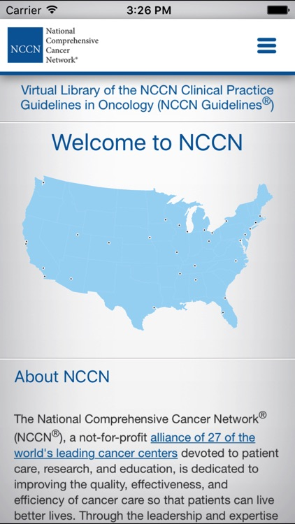 NCCN Guidelines® for Smartphone