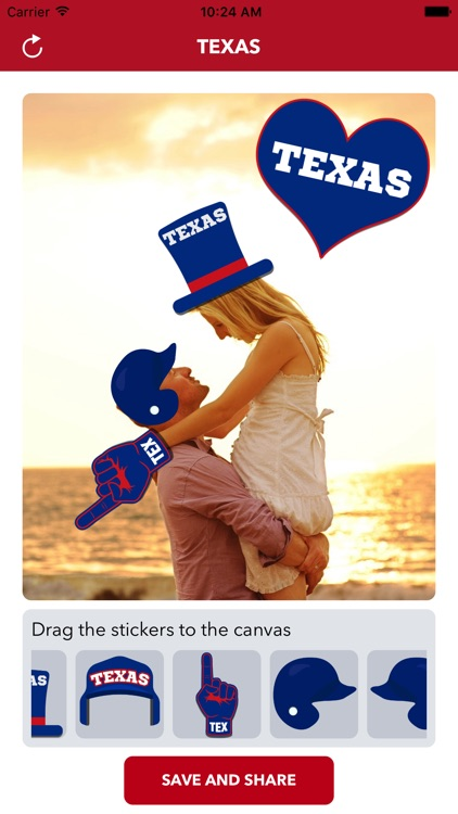 Texas Baseball Stickers & Emojis