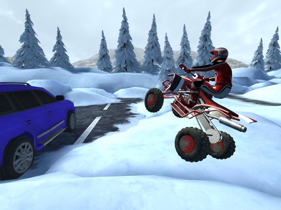 ATV Quad Bike Snow Parking Simulator 2017 screenshot 6
