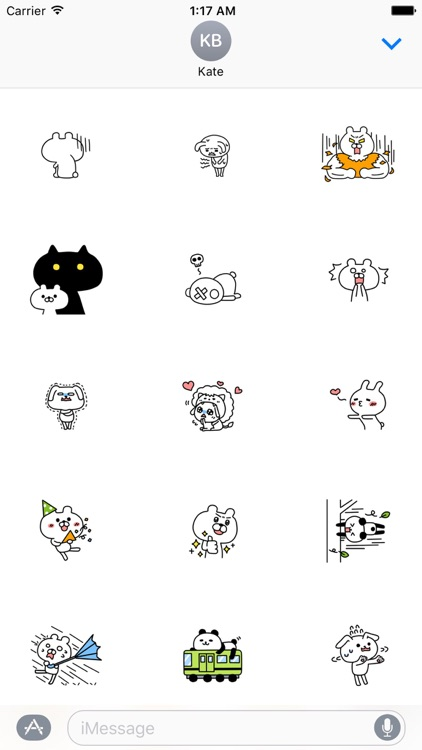 Funny Rabbit And Bear Stickers Pack