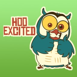 Hoo The Funny Owl Stickers