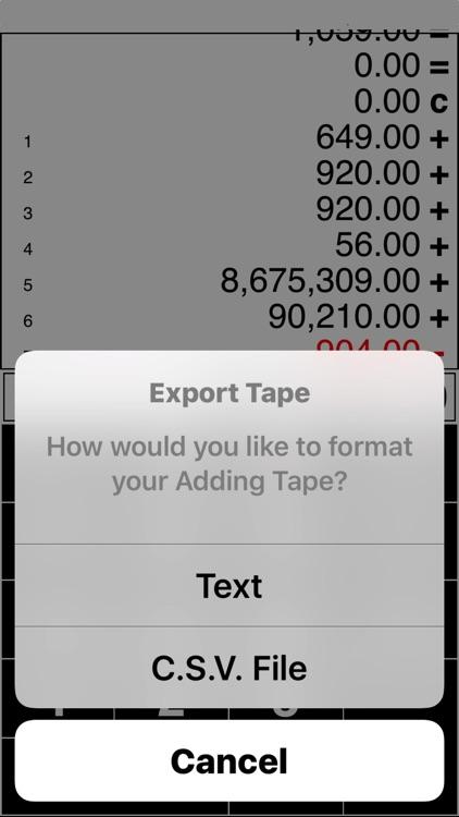 Adding Tape Printing Calculator with virtual tape screenshot-3