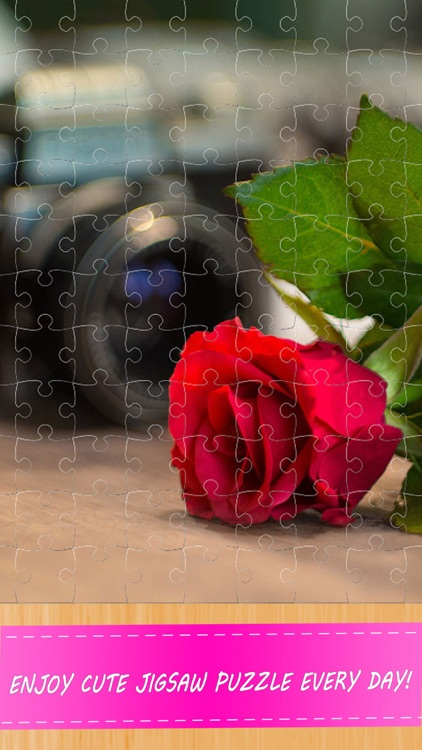 Valentine Flower Jigsaw Puzzle For Adults screenshot-3