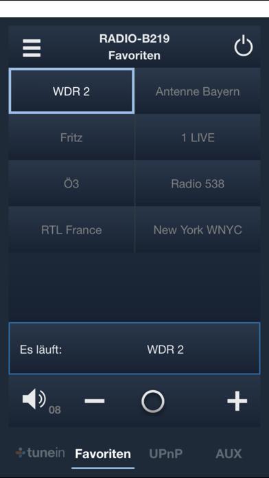 Remote Busch-Radio iNetScreenshot von 2