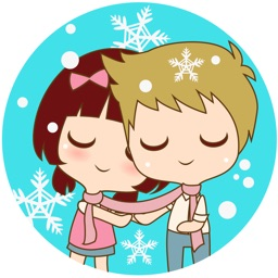 The sweet newlywed couple 2 for iMessage Sticker