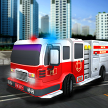 Firefighter Truck Rescue 911