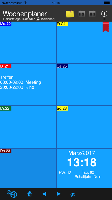 Screenshot for Wochenplaner in Austria App Store
