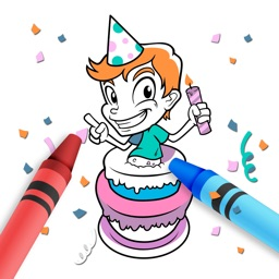 Birthday Coloring Games