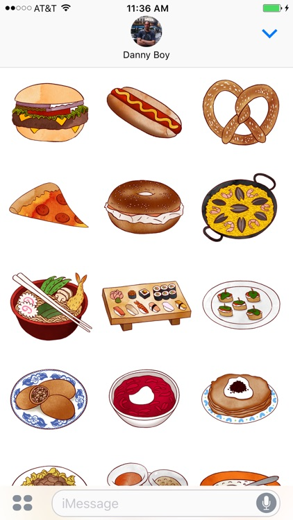 Jazzy World Food - Tasty Dishes Sticker Pack