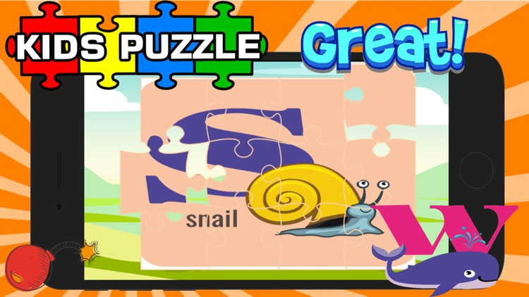 ABC Animal Puzzle Jigsaw-Kid English Learning Free screenshot-4