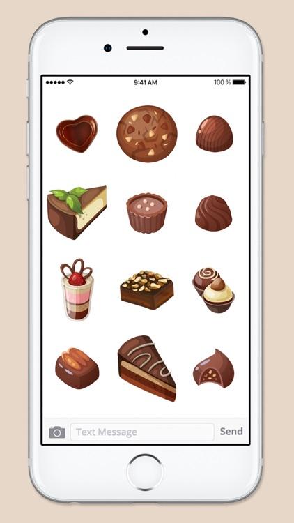 Chocoholic Chocolate Lover Sticker Pack screenshot-3