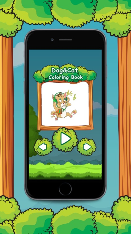 Cat & Dog Animal Coloring Book Games