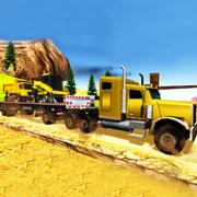 越野山卡车司机起重机模拟器3D游戏