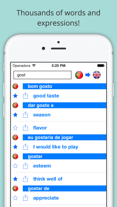 Offline English Portuguese Dictionary (Dicionário) screenshot three
