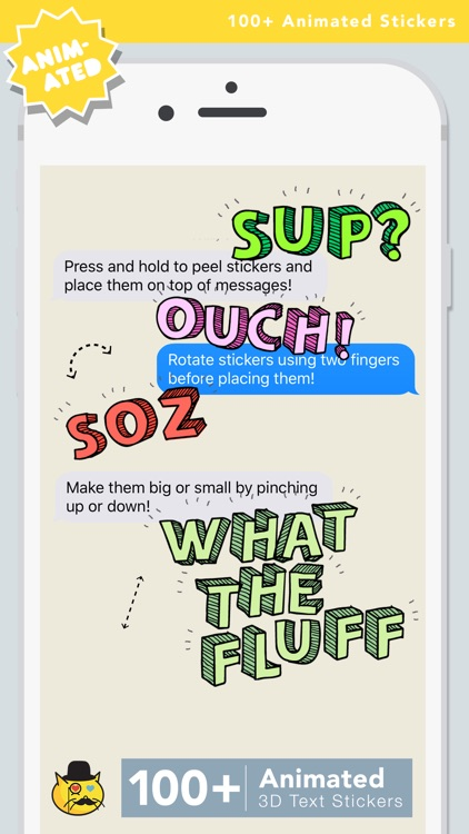 OMG VIBES : Animated Text Stickers