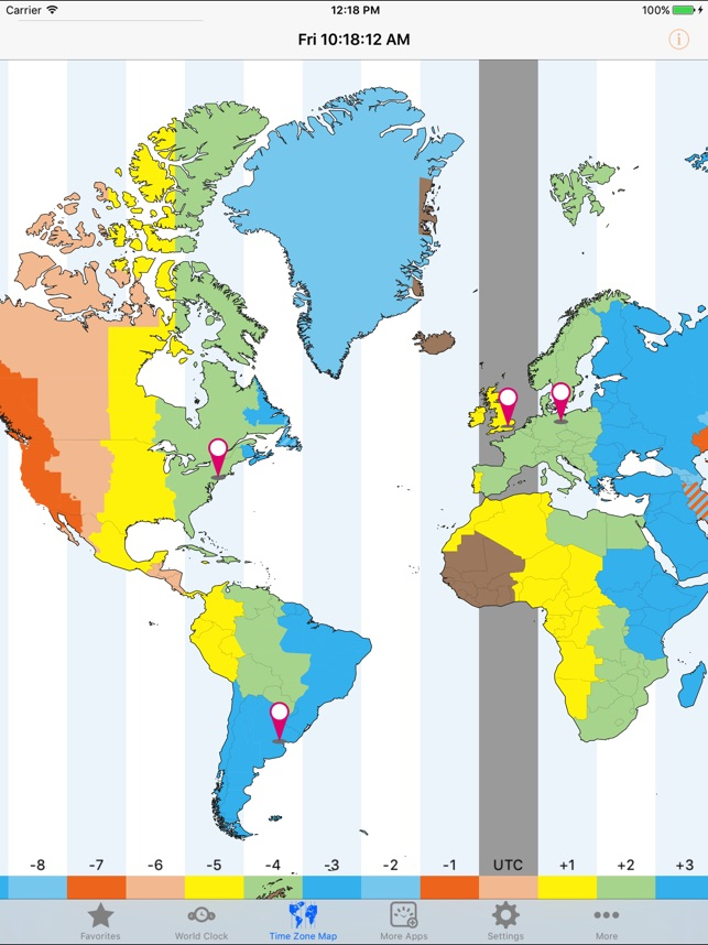 World clocktime zones on the app store gumiabroncs Choice Image