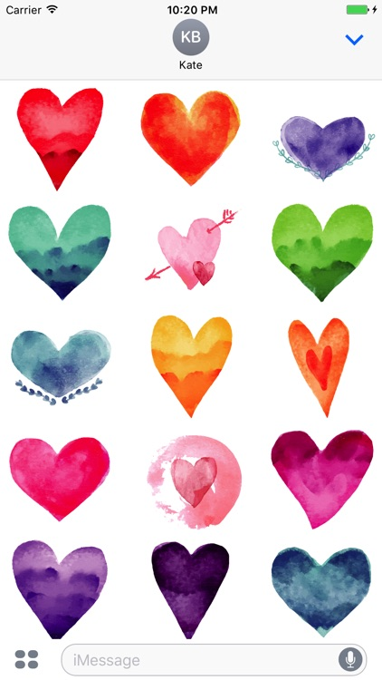 Animated Watercolor Love Stickers