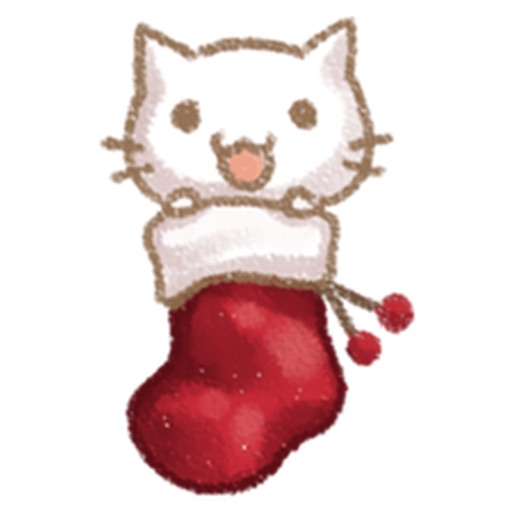 Christmas Of Cute Cat Stickers