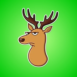 Elk in Forest Stickers