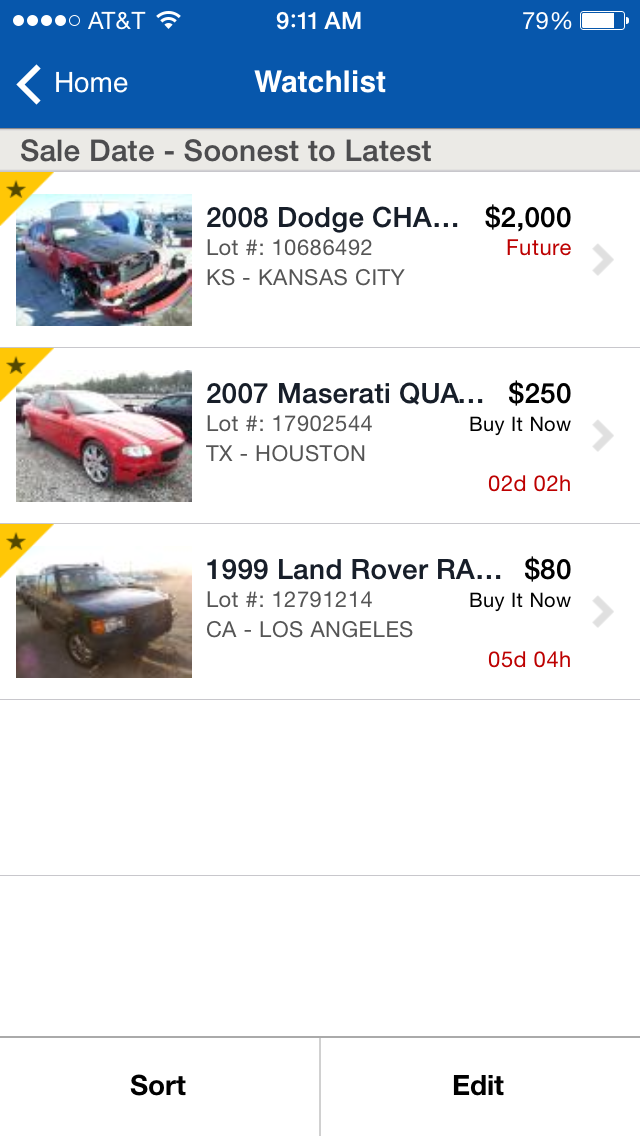 Copart - Salvage Car Auctions Screenshot