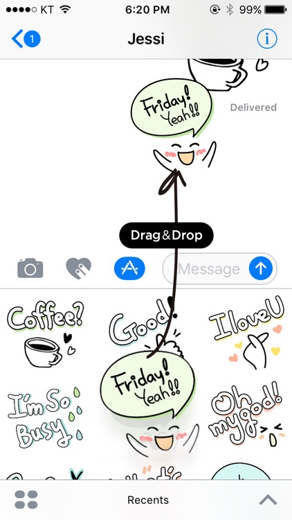 Cute doodles & hand written stickers screenshot-3