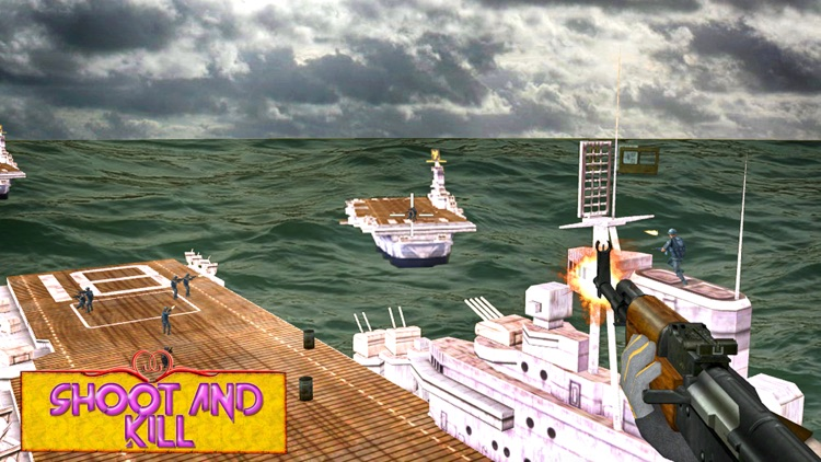 Navy warship bloodshed: Sea battle game