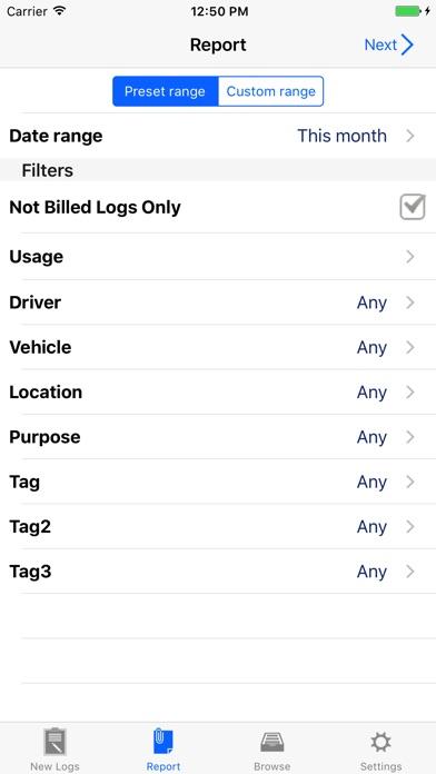 Milog - mileage log tracker screenshot two
