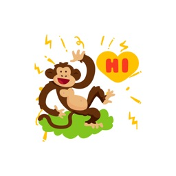 Mad Monkey stickers by NestedApps Stickers