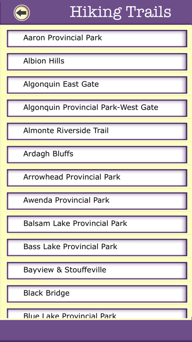 Ontario Camping & Hiking Trails,State Parks screenshot four