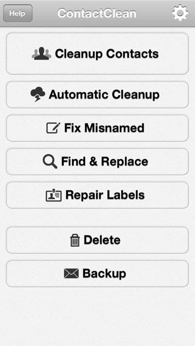 ContactClean - アドレス帳のクリーンアップと修復のスクリーンショット2