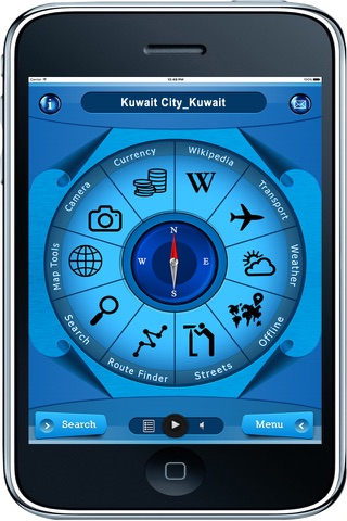 Kuwait City Kuwait - Offline Travel Map Navigation - náhled