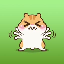 Hendrix The Little Hamster Sticker