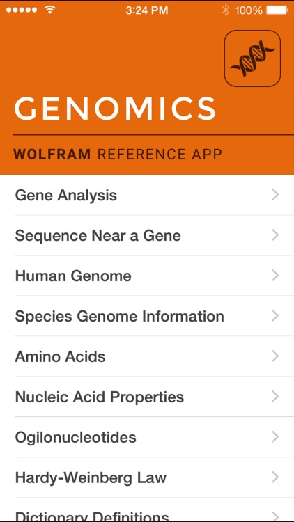 Wolfram Genomics Reference App screenshot-0