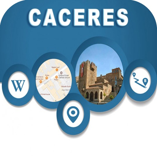 Cáceres Spain Offline City Maps Navigation