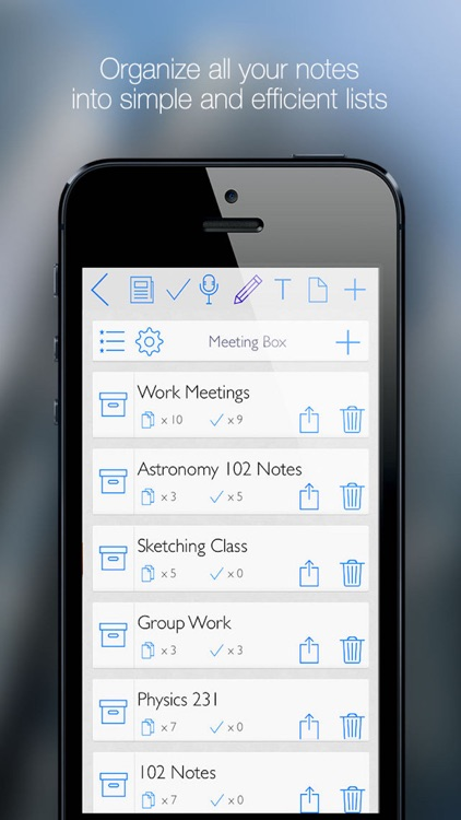 Meeting Box - Notes, Tasks, Sketches & Recordings screenshot-0