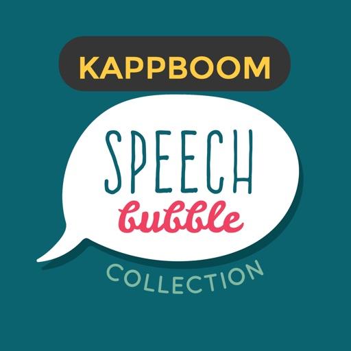 Collection Comic Colored Speech Bubble