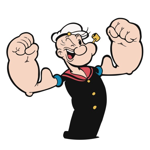 "Popeye ""I Yam What I Yam"" sticker pack"