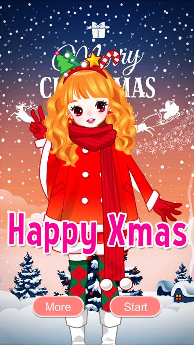 Happy Christmas Sweet Girl Dress Up